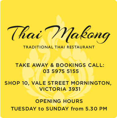 Thai Makong - A Traditional Thai Restaurant; For Take Away and bookings call 03 5975 5155. Located at Shop 10, Vale Street Mornington, Victoria 3931 - Open Tuesday to Sunday from 5.30pm